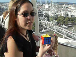 Me just after solving the cube on the London Eye