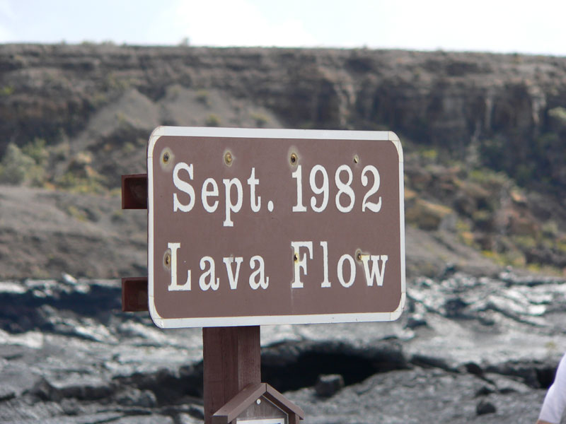 Lava flow sign
