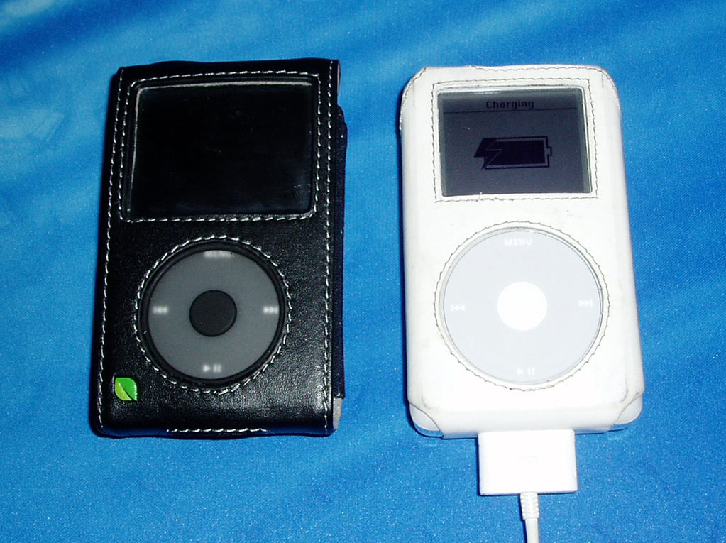 Mine and Peter's iPods
