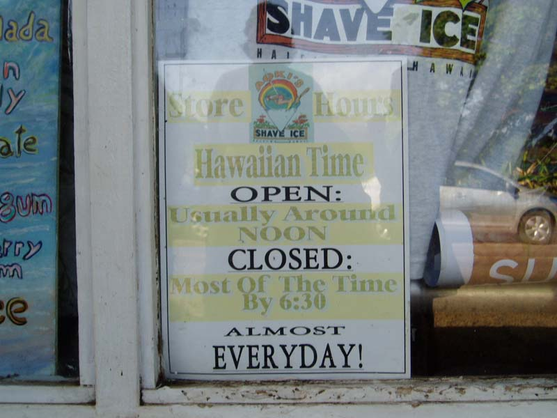 Shop sign in O'ahu