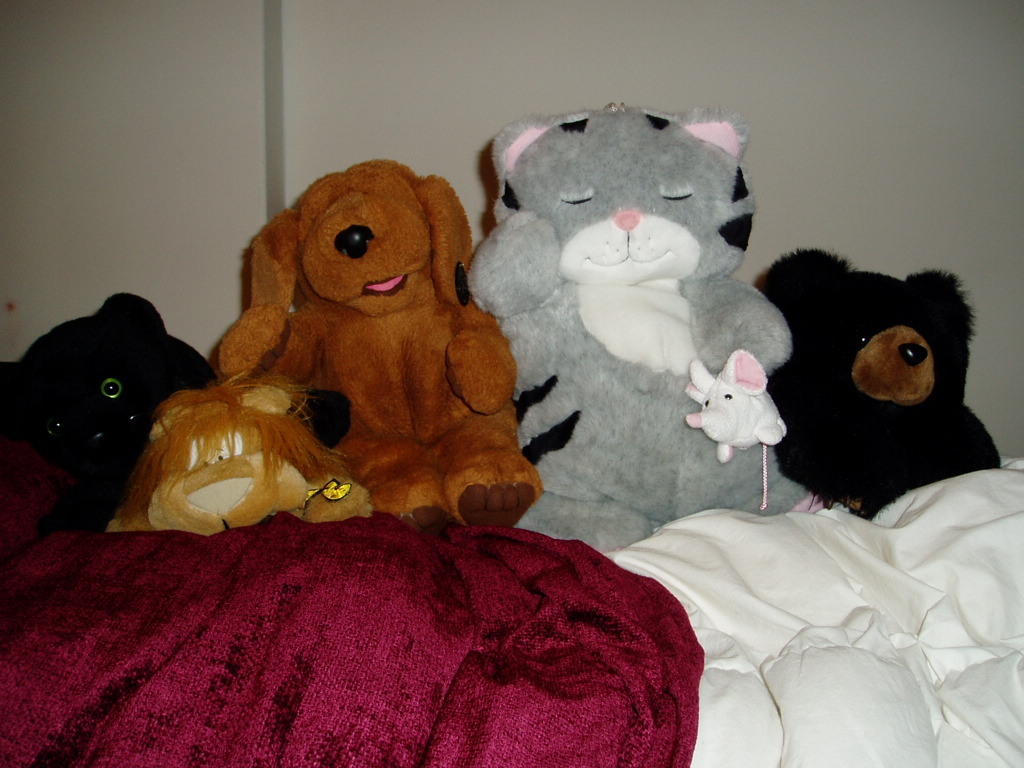 London BK, JP the Lion, Eric the Woofy, Snoozy Kitty, Little Bear