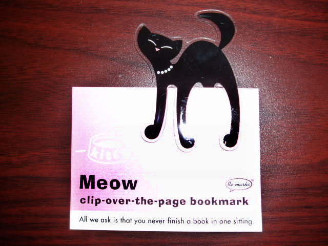 Black kitty bookmark