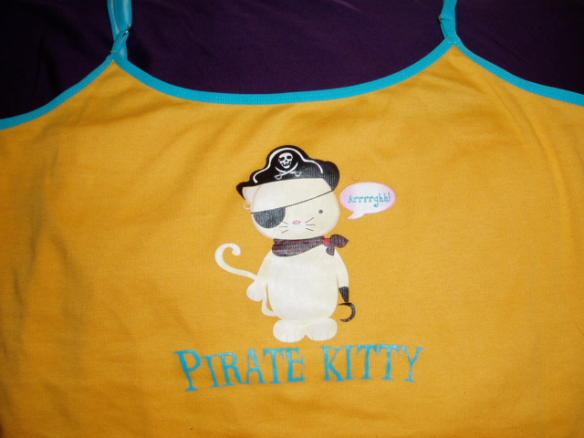 Pirate kitty top